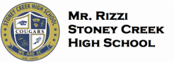 Mr. Rizzi - Stoney Creek High School
